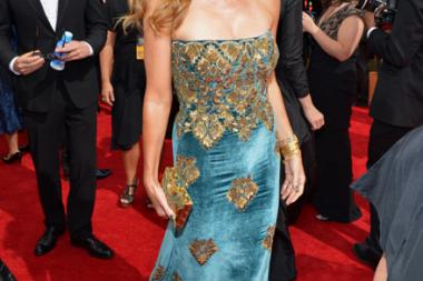 Connie Britton on the Red Carpet at the 65th Emmys