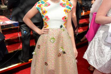 Kiernan Shipka on the Red Carpet at the 65th Emmys