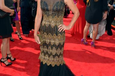 Constance Zimmer on the Red Carpet at the 65th Emmys