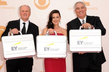 Representatives from Ernst and Young on the Red Carpet at the 65th Emmys