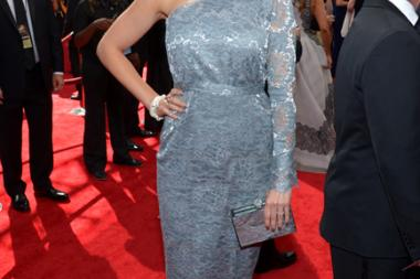 Emily Deschanel on the Red Carpet at the 65th Emmys