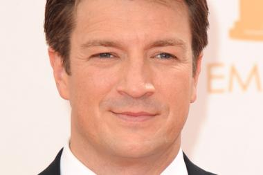 Nathan Fillion on the Red Carpet at the 65th Emmys