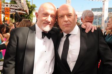 Jonathan Banks and Dean Norris on the Red Carpet at the 65th Emmys