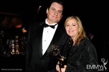 Cyndra Dunn (R) attends the 2011 Academy of Television Arts & Sciences Primetime Creative Arts Emmy Awards Governors Ball