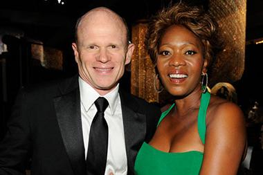 (L-R) Paul McCrane and Alfre Woodard attends the 2011 Academy of Television Arts & Sciences Primetime Creative Arts Emmy Awards