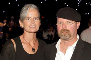 Eileen Walsh (L) and Jamie Hyneman attend Governor's Ball during the 62nd Primetime Creative Arts Emmy Awards at Nokia Theatre