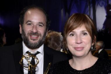 Jacob Krichefski and Abi Morgan at the Governors Ball