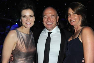Betsy Brandt, Dean Norris and guest at the Governors Ball