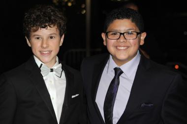 Nolan Gould and Rico Rodriguez at the Governors Ball