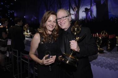 Danny Zuker and Anette Zuker at the Governors Ball