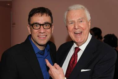 Saturday Night Live's Fred Armisen with SNL announcer and Hall of Fame inductee, Don Pardo.