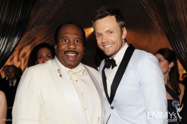 Leslie David Baker (L) and Joel McHale attend the Governors Ball