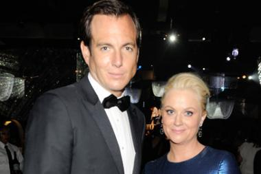 Will Arnett (L) and Amy Poehler attend the Governors Ball