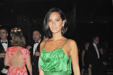 Olivia Munn arrives at the Academy of Television Arts & Sciences 63rd Primetime Emmy Awards