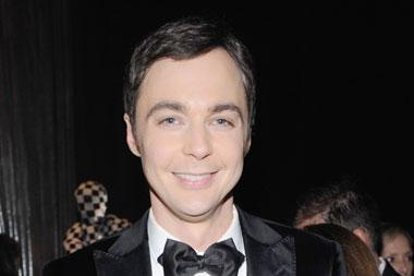 "Jim Parsons poses with the award for Outstanding Lead Actor in a Comedy Series for ""The Big Bang Theory"""