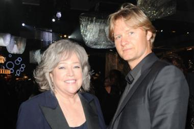Kathy Bates (L) and Philippe Benard attend the Governors Ball