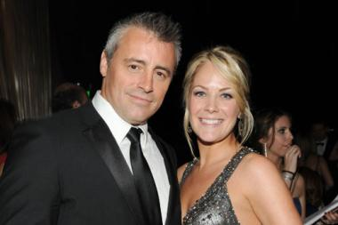 Matt LeBlanc (L) and Andrea Anders at the Governors Ball during the Academy of Television Arts & Sciences 63rd Primetime Emmys