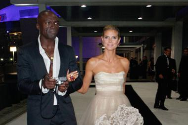 Heidi Klum (R) and Seal arrive at the Governors Ball during the Academy of Television Arts & Sciences 63rd Primetime Emmy Awards