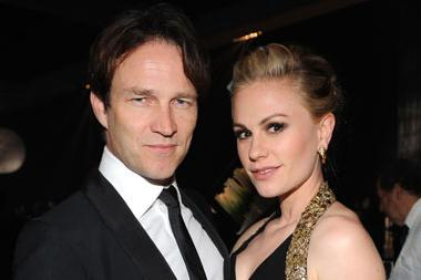 Stephen Moyer (L) and Anna Paquin at the Governors Ball during the Academy of Television Arts & Sciences 63rd Primetime Emmys