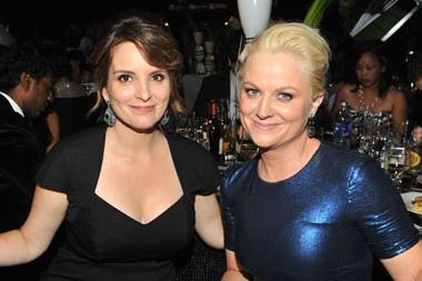 Tina Fey (L) and Amy Poehler attend the Governors Ball