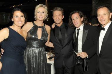 "(L-R) Lara Embry, Jane Lynch, Matthew Morrison and ""Glee"" Executive Producers Ian Brennan and Dante Di Loreto"