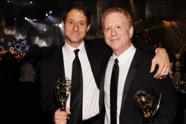 """Co-Executive Producers of """"Glee"""" Bill Wrubel (L) and Jeff Morton attend the Governors Ball"""