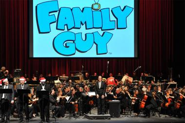 Walter Murphy, orchestra and chorus perform his music from Family Guy
