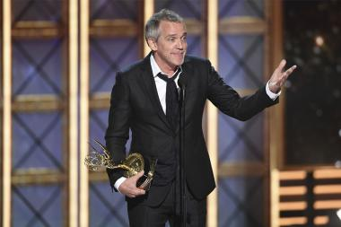 Jean-Marc Vallee accepts an award at the 2017 Primetime Emmys.