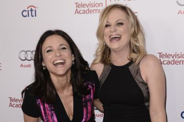 Julia Louis-Dreyfus (L) and Amy Poehler