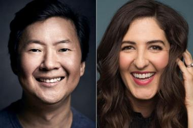 Ken Jeong and D'Arcy Carden