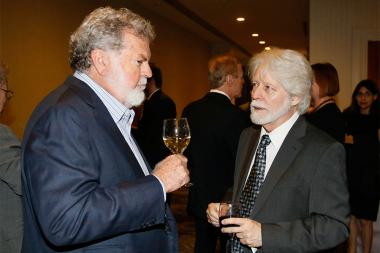 Dean Cundey and Curtis Clark at the 2015 Engineering Emmys at the Loews Hotel in Los Angeles, October 28, 2015.