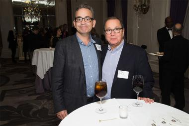 David Rieth and Stu Zakim at the New York Networking Night Out, November 13, 2015 at the St. Regis in New York City.