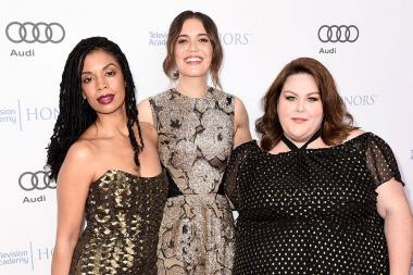 Susan Kelechi Watson, Mandy Moore, and Chrissy Metz at the 2017 Television Academy Honors at the Montage Hotel on Thursday, June 8, 2017, in Beverly Hills, California.