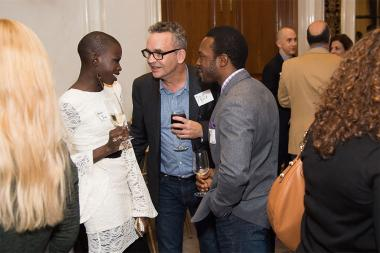 Angelina Jacob, David Rieth, and Nnamdi Nwasa at the New York Networking Night Out, November 13, 2015 at the St. Regis in New York City.