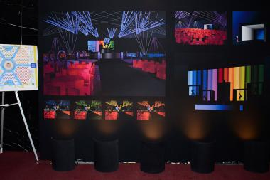 66th Emmy Awards Governors Ball design and seating overview.