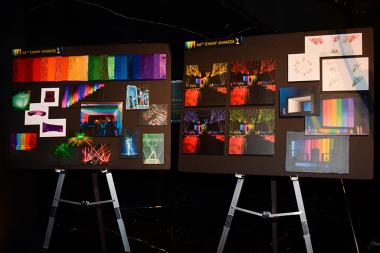 Design planning boards for the 66th Primetime Emmys Governors Ball.