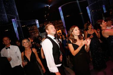 Guests enjoy the band at the 2015 Creative Arts Ball.