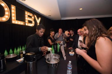 Guests enjoy refreshments at the Sound and Sound Editors nominee reception September 10, 2015 in Los Angeles, California.