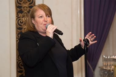 Television Academy vice president, events production, Barbara Held speaks at the New York Networking Night Out, November 13, 2015 at the St. Regis in New York City.