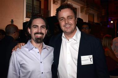 Nominees Bear McCreary and Sean Callery at the Music nominee reception September 10, 2015 in Los Angeles, California.