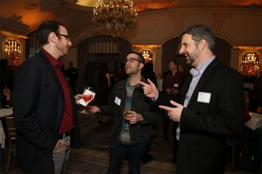 Brian Golding, Phil Chernyak, and Brian Lutz at Television Academy's Networking Night Out at the St. Regis on Friday, April 6, 2018 in New York.
