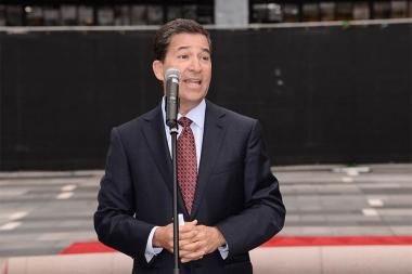 Television Academy CEO Bruce Rosenblum at this year's Emmy Awards Red Carpet Rollout ceremony at the Nokia Theatre LA LIVE.