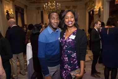Buki Elegbede and Sharon Frances Moore at the New York Networking Night Out, November 13, 2015 at the St. Regis in New York City.