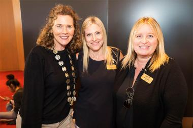 Television Academy Governors Janet Dimon and Jill Daniels with guest at It's Not Just A Cartoon! Animation Day, presented by the Television Academy for its members and their families on Saturday, November 11, 2017 at the Saban Media Center in North Hollyw