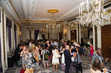Television Academy members and guests mingle at Networking Night Out NYC! at the St. Regis Hotel in New York City, June 12, 2015.