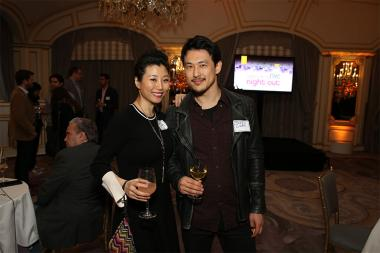 Deborah S. Craig and James Chen at Television Academy's Networking Night Out at the St. Regis on Friday, April 6, 2018 in New York.