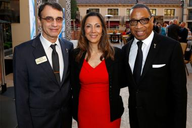 Frank Morrone, CAS Television Academy, Lucia Gervino,Television Academy Honors Chair, and Television Academy Chairman & CEO Hayma Washington at the 2017 Television Academy Honors at the Montage Hotel on Thursday, June 8, 2017, in Beverly Hills, California