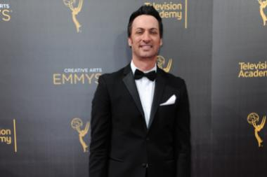 Stephen Full on the red carpet at the 2016 Creative Arts Emmys.