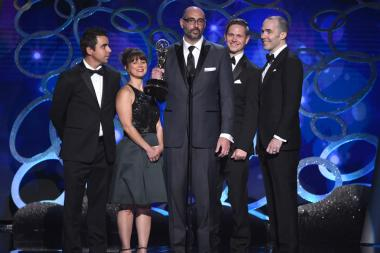 Cartoon Network APP Experience team accepts award at the 2016 Creative Arts Emmys