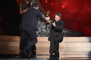 Chris Hardwick presents an award at the 2016 Creative Arts Emmys.